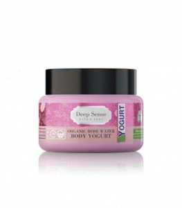 Organic Rose water Body Yogurt - کرم آبرسان بدن گلاب دیپ سنس